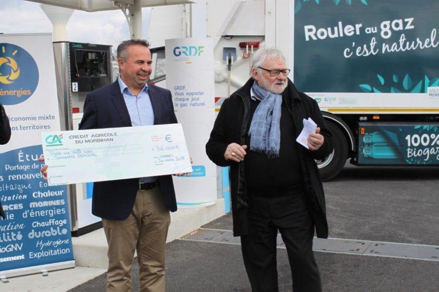 20 MARS 2019 – Remise chèque par MORBIHAN ENERGIE et GRDF